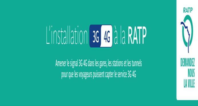 Installation 2G 3G 4G RATP logo