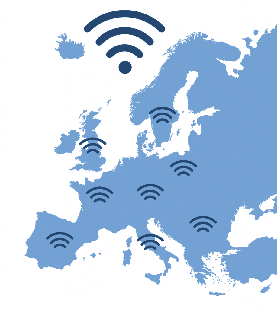 carte europe wifi4eu